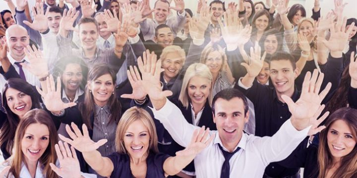 Large group of cheerful business people with their arms raised. [url=http://www.istockphoto.com/search/lightbox/9786622][img]http://dl.dropbox.com/u/40117171/business.jpg[/img][/url]
